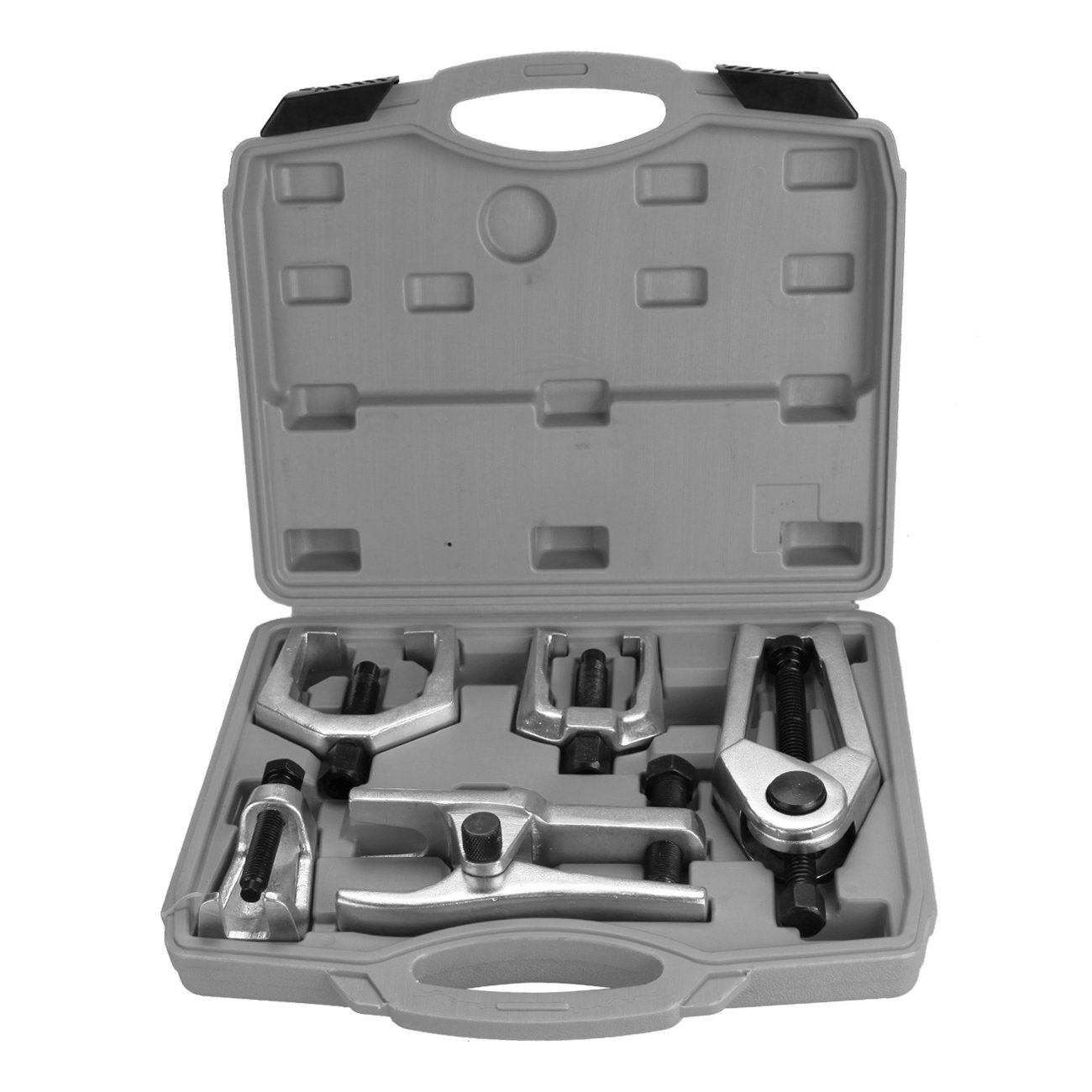 Red Ambienceo 5PCS Front End Remover Tool Kit Ball Joint Separator Pitman Arm Tie Rod Puller with Carring Case