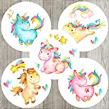 Unicorn Sticker Labels - Children Girl Birthday Baby Shower Party - Set of 50
