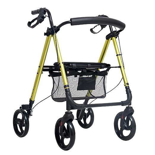 YANHX Andador|Carretilla para Caminar Ligera De Aluminio De Cuatro ...