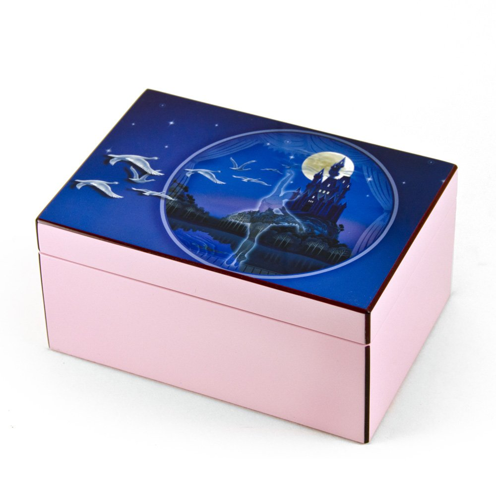 Hi-Gloss Pink and Purple Enchanted Ballet Musical Jewelry Box By Twinkle - Rock of Ages - Christian Version by MusicBoxAttic