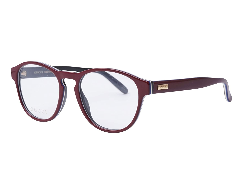 dd642d4fe Amazon.com: GUCCI 0273 Burgundy Black White Clubmaster Unisex Eyeglasses  50mm GG0273O: Clothing