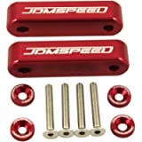 JDMSPEED Anodized Red Hood Spacer Hood Riser 3/4' Replacement for Honda Civic CRX Del Sol Acura Integra
