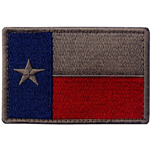 EmbTao Texas Embroidered Tactical Fastener Hook&Loop Patch -