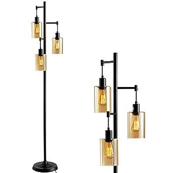 Amazon.com: LEONLITE Lámpara de pie de árbol de cristal ...