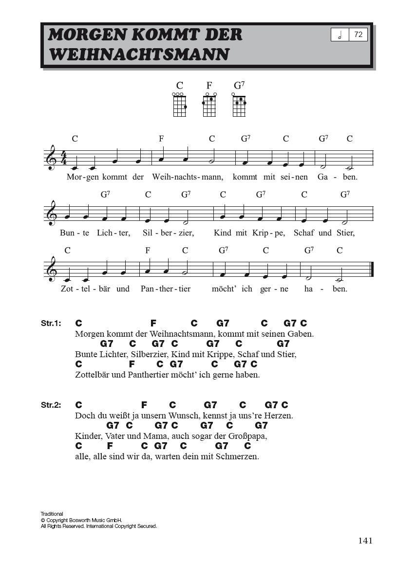 Hit Session Ukulele - Weihnachtslieder: Songbook für Ukulele: Amazon ...