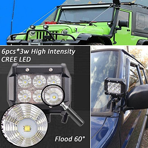 52Inch-LED-Light-Bar-Combo-20in-4-CREE-PODS-OFFROAD-SUV-4WD-ATV-FORD-JEEP-50