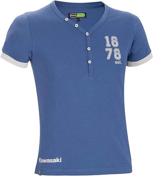 Kawasaki Camiseta EST 1878 Azul - Azul, XX-Grande/XXX-Large ...