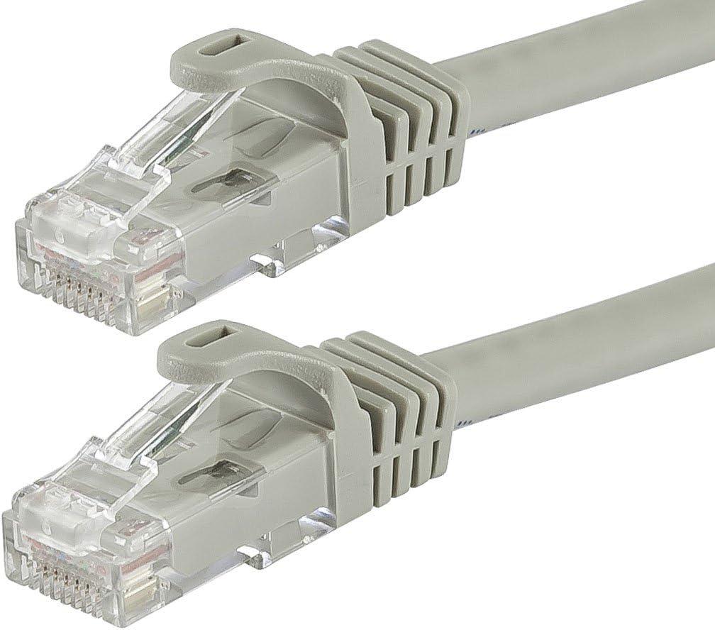 CLASSYTEK FLEXboot Series Cat5e 24AWG UTP Ethernet Network Patch Cable 2ft Gray