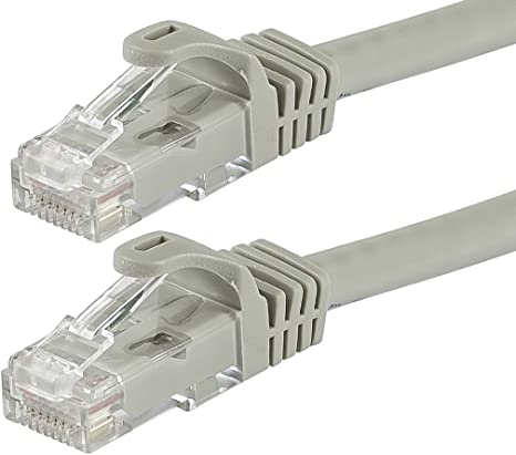 14ft Cat6 RJ45 UTP LAN Network Ethernet Internet Router Booted Cable Wire Gray