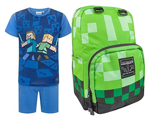Official Minecraft Creeper Backpack and Surrounded Pyjamas ...