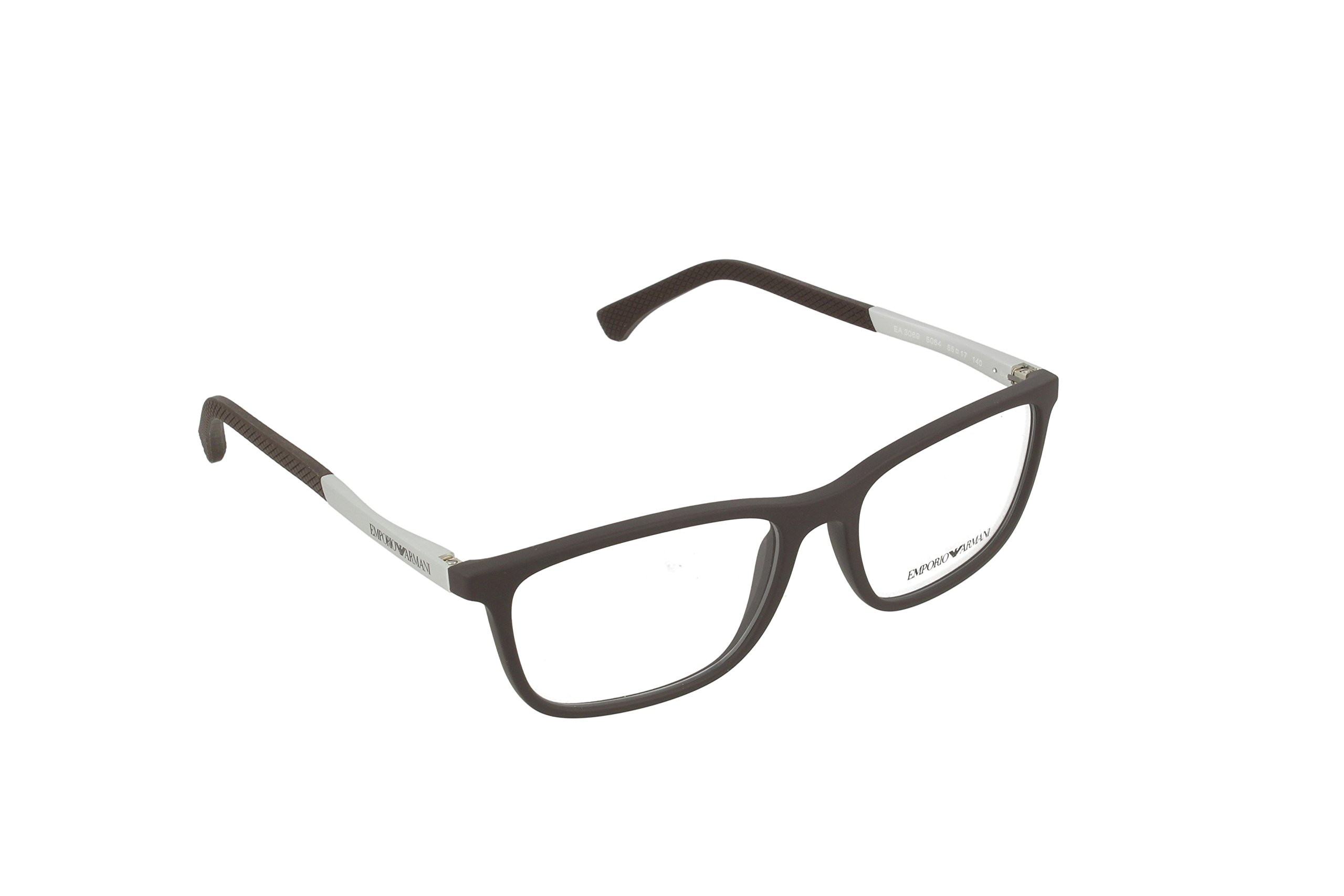 Armani EA3069 Eyeglass Frames 5064-55 - Brown Rubber