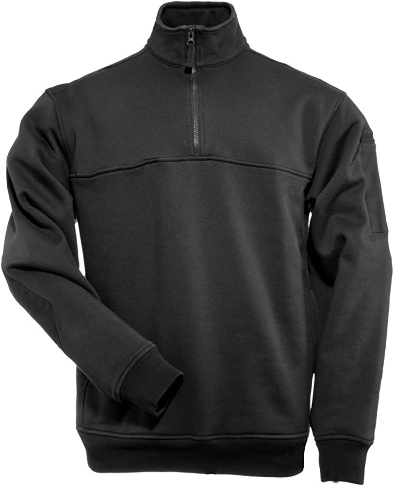 5.11 Tactical Quarter Job Zip Shirt Black Large: Amazon