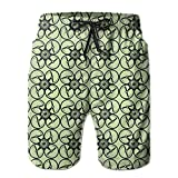 Graphic Drone Summer Breathable Swim Trunks Beach Shorts Board Shorts