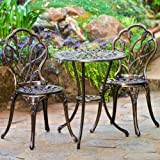 Cheap Christopher Knight Home 283256 Nassau Cast Aluminum Outdoor Bistro Furniture Set, Brown