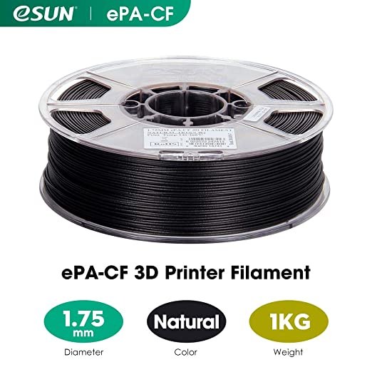 eSUN Nylon Relleno de Fibra de Carbono Filamento de Impresora 3D ...