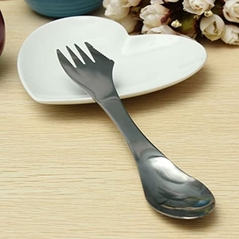 Outdoor 3-in-1 Stainless Steel Spork Spoon Fork Cutlery Utensil Combo For Picnic Gadget Outdoor Tablewares