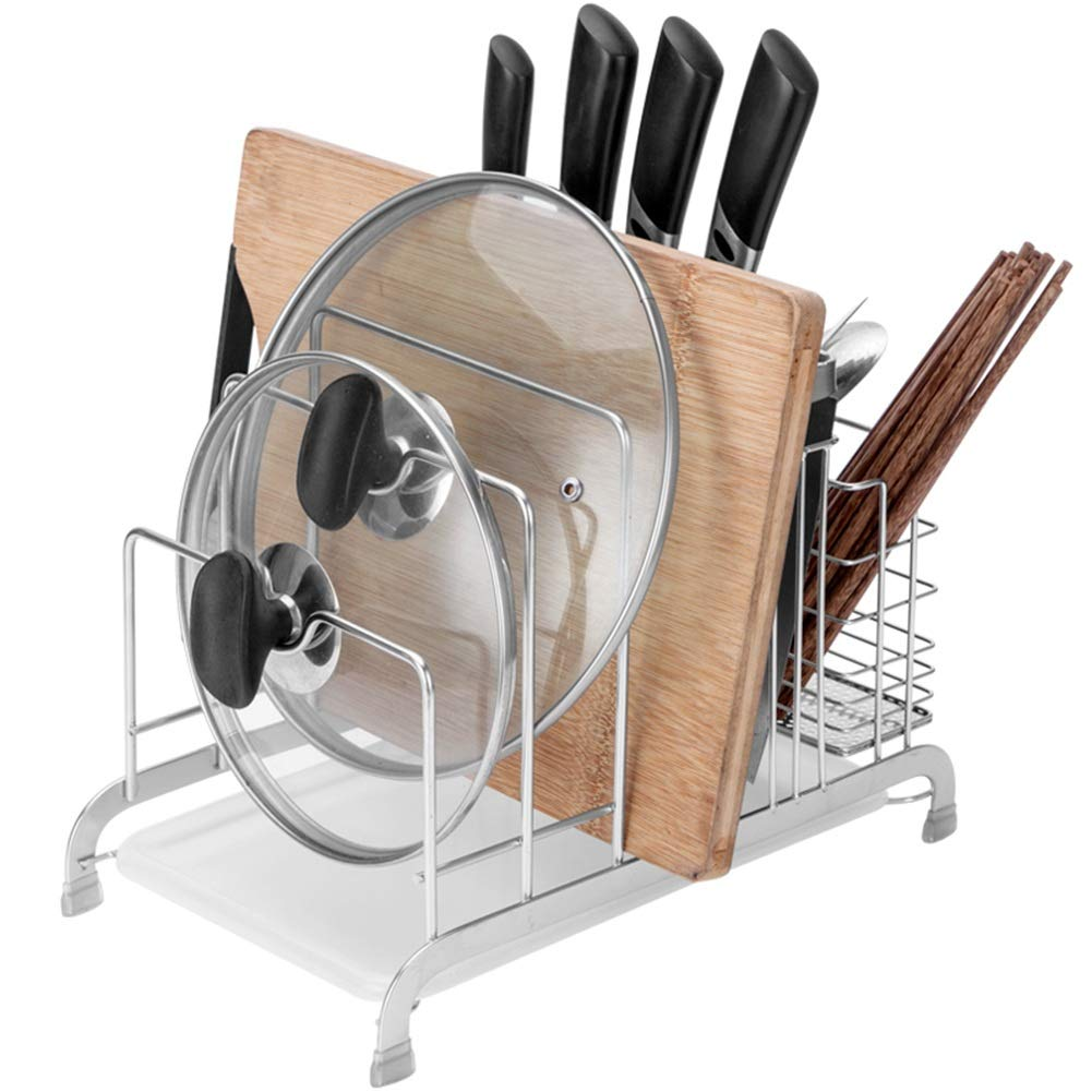 Shelf Storage Racks Pot Rack Holders Shelf Baskets 304 Stainless Steel Put The Lid Chopping Rack Sitting Board Tool Holder 20.333.725.3cm ZHAOYONGLI