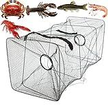 Fishing Bait Trap Fish Net Cast Dip Cage Crab Minnow Crawdad Shrimp Foldable