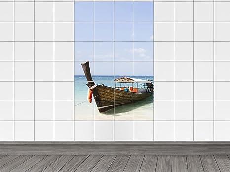 Piastrelle immagine sticker adesivo da parete per bagno barca