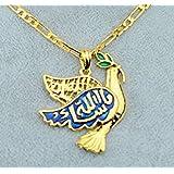 ☪ Colombe Allah Bijou Originaire du Golfe Arabo Persique Plaqué Or 22 carats