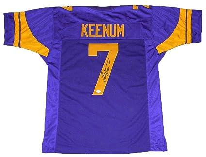 newest 0b428 dfb23 Autographed Case Keenum Jersey - #7 Color Rush - JSA ...