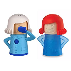 Angry Mama Microwave Fridge Cleaner Chilly Mama Fridge Odor Absorber Kitchen Cleaning Equipment Set, Kepp Your Microwave & Fridge Clean and Fresh- Great Gift