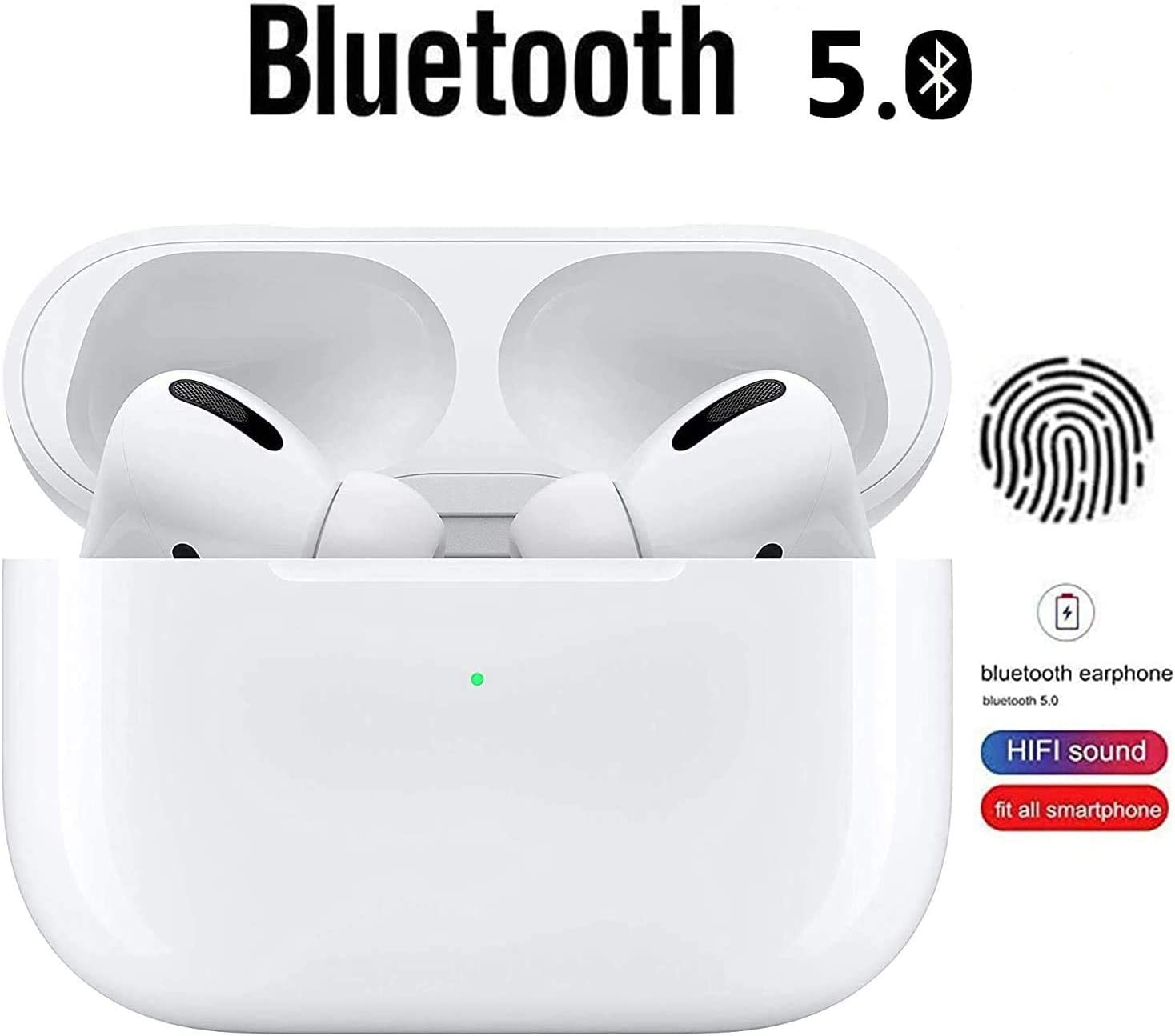 Long Battery Life Stereo HiFi Headphones with Portable Charging Case for Apple Airpods//Android//iPhone Audio Airpods Pro Earbuds with Bluetooth