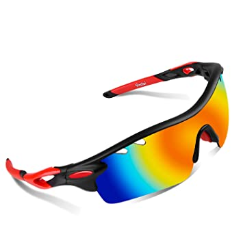 sports sunglasses with interchangeable lenses  Amazon.com : Polarized Sports Sunglasses, Poshei P01 Outdoor Sun ...
