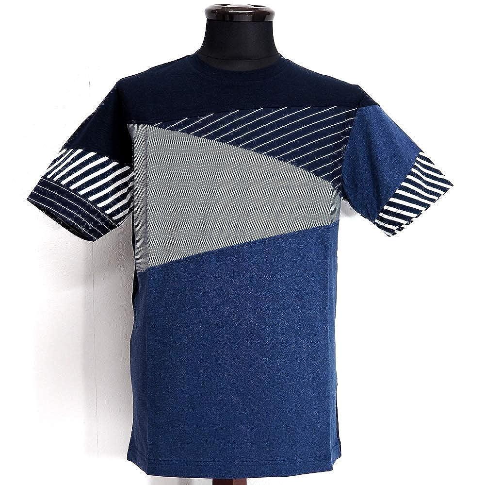 58153 Alcott hill アルコットヒル 日本製 クルーネック 丸首 Tシャツ 半袖 ネイビー 46(M) サイズ 日本製 メンズ カジュアル 男性 春夏 ゴルフ 通販   B07QYRXNC6