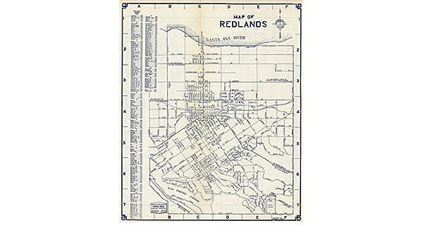 Amazon Com Historic Map Redlands California 1938 Antique