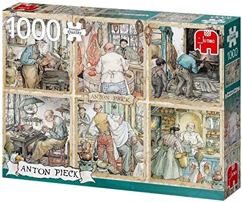 1000 Pieces Jigsaw Puzzle Jumbo Premium Selection The Clock Shop Anton Pieck