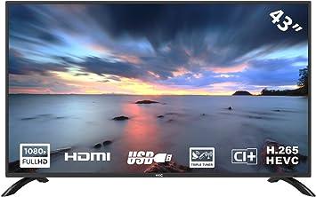 HKC 43F3 Televisor LED de 109 cm (43 Pulgadas) (Full HD, sintonizador Triple, Ci +, HDMI, Reproductor Multimedia a través de USB 2.0) [Clase energética A]: Amazon.es: Electrónica