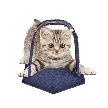 Mlec tech Rascador de Masaje para Gatos con Cerdas Cómodas para Aseo Arco Rascador para Gatos: Amazon.es: Productos para mascotas