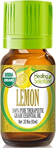 Organic Lemon Essential Oil (100% Pure - USDA Certified Organic) Best Therapeutic Grade Essential Oil - 10ml
