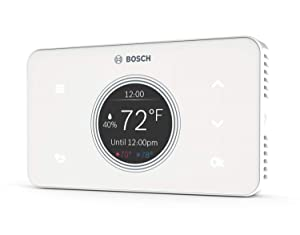 Bosch Thermotechnology Bosch Connected BCC50 Wi-Fi Thermostat-Compatible with Alexa and Google Assistant, All-in-One, Touch Screen, Safety Control, Smart Home, White
