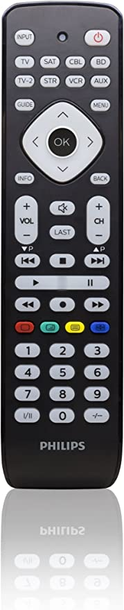 Philips SRP2018/10 - Mando a Distancia Universal (Televisor, DVD, Blue-Ray, Cable, VCR, DTV, DVR, aparatos Stream) Color Negro: Amazon.es: Electrónica