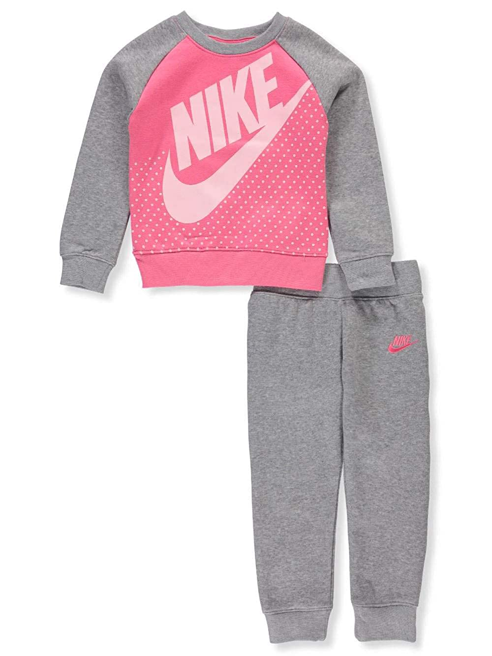a6faa62f02484 Amazon.com: NIKE Girls' 2-Piece Sweatsuit Pants Set: Clothing