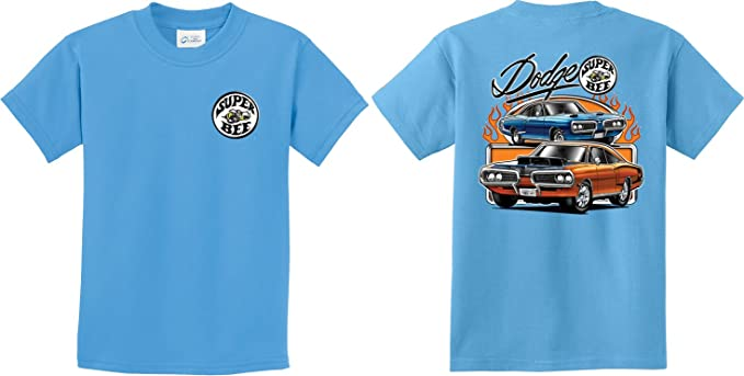 ebd144d08 Buy Cool Shirts Dodge Blue and Orange Super Bee (Front & Back) Youth T