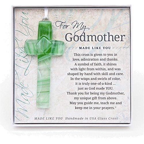 Green Ribbon Italian Charm - Jewelry Adviser Gifts Made Like You Godmother Green Cross w/Ribbon