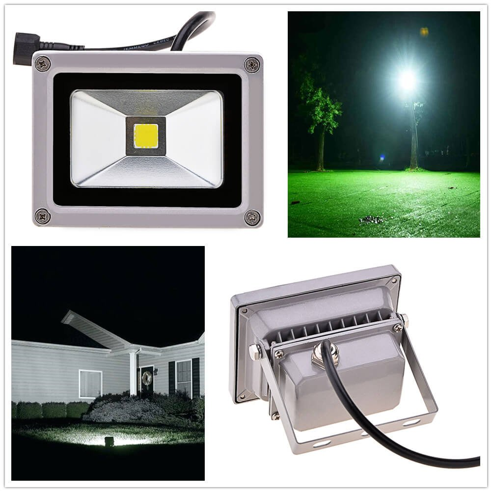 Solar Power LED Flood Night Light 10w Garden Spotlight Waterproof Outdoor Lamp (Energy class A++) (Cold White) by Homdox (Image #5)