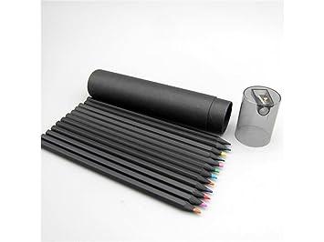 Outil de bureau scolaire peinture colorée stylo noir charbon bois