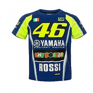 Valentino Rossi Vr46 Moto Gp M1 Yamaha Racing Team Kinder T Shirt