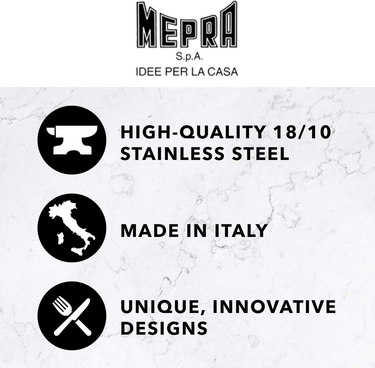 MEPRA Stainless Steel Fantasia Place Set, Set of 24, Light Mauve