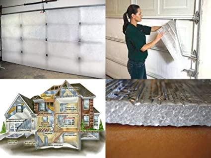 Nasa Tech White Reflective Foam Core 2 Car Garage Door Insulation