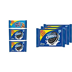 OREO & CHIPS AHOY! Cookies Variety Pack, Family Size, 3 Packs & Chocolate Sandwich Cookies, Family Size - 3 Packs