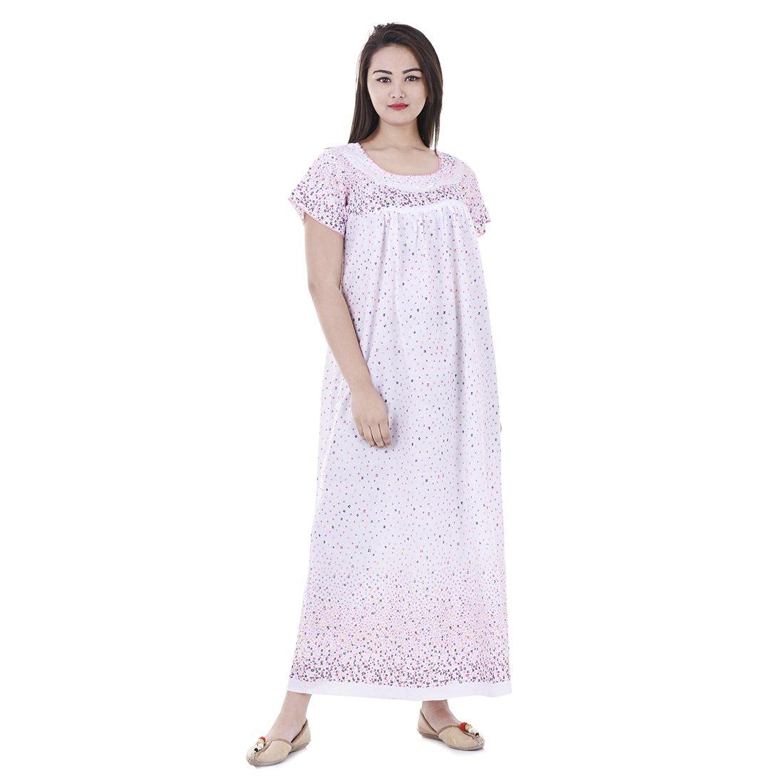 Amazon.com  Women Cotton Night Wear Gown Sexy Nighties Nighty Sleepwear  Indian Dress Long Skirt Maxi Bath Robe Nightdress  Clothing 95eca5452