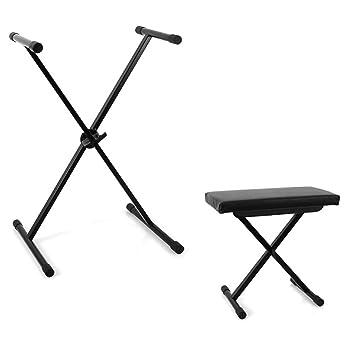 Set de soporte y taburete para teclados de música Keybiza: Amazon.es: Instrumentos musicales