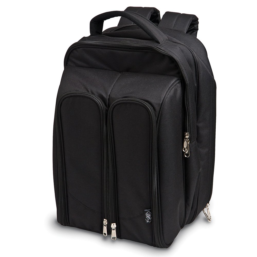 Epic Products Wine Picnic Backpack for Two, Black