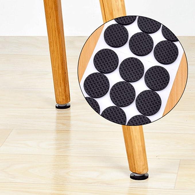 Juego de 142 almohadillas de fieltro autoadhesivas para muebles almohadillas de fieltro color marr/ón protecci/ón efectiva de tus muebles y suelos de madera