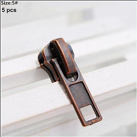 ECYC® 5pcs 5 # Cremallera De Repuesto De Alta Calidad De Metal Cremallera De Repuesto